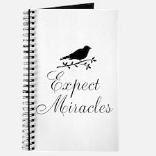Expect Miracles Black Bird Journal