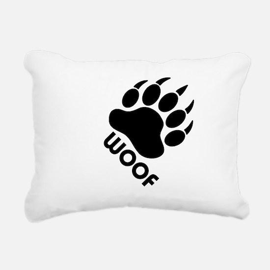 Cute Woof Rectangular Canvas Pillow