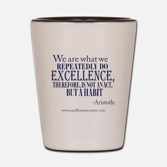 Excellence Blue Shot Glass