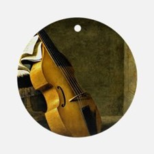 Bass Viol, Score Sheet, and a Sword Round Ornament
