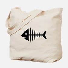 Fishbone skeleton Tote Bag