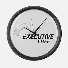 Executive Chef Large Wall Clock