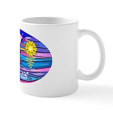 Oval-Sea Turtle 4 Small Mug