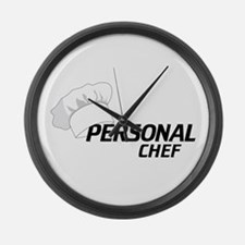 Personal Chef Large Wall Clock