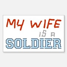 Husband of a Soldier Rectangle Decal