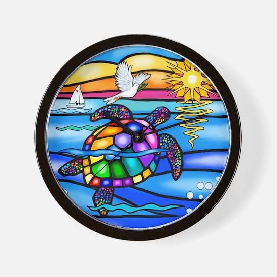 Unique Colorful turtle Wall Clock