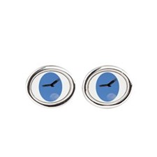 Blues vultures Oval Cufflinks