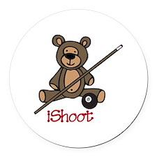 iShoot Round Car Magnet