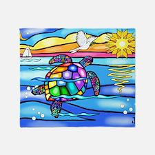 Unique Colorful turtle Throw Blanket