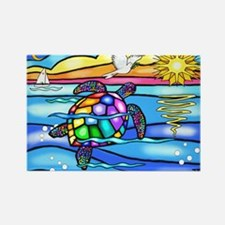 Funny Turtle Rectangle Magnet