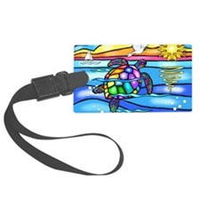Cute Colorful turtle Luggage Tag