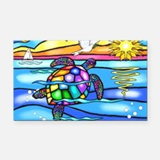 Unique Turtle Rectangle Car Magnet