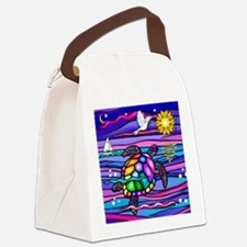 Funny Turtle art Canvas Lunch Bag