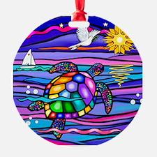 Cute Colorful turtle Ornament