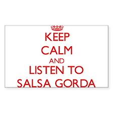 Keep calm and listen to SALSA GORDA Decal