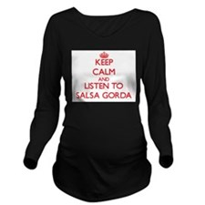Cute Salsa Long Sleeve Maternity T-Shirt