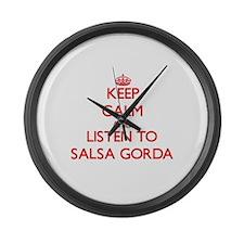 Unique Salsa Large Wall Clock