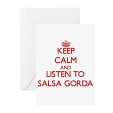 Keep calm and listen to SALSA GORDA Greeting Cards