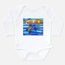 Sea Turtle #8 Long Sleeve Infant Bodysuit
