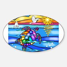 Sea Turtle #8 Sticker (Oval)