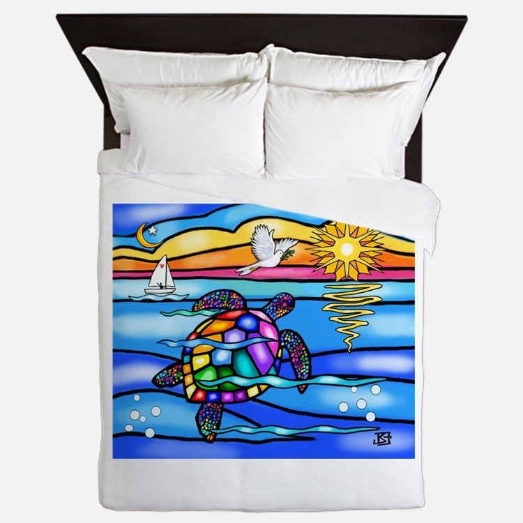 Sea Turtle #8 Queen Duvet