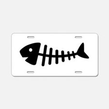 Fishbone Aluminum License Plate