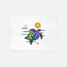Sea Turtle (nobk) 5'x7'Area Rug