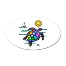 Sea Turtle (nobk) Wall Decal