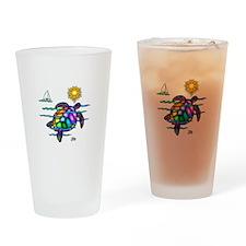 Sea Turtle (nobk) Drinking Glass