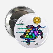 """Sea Turtle (nobk) 2.25"""" Button (10 pack)"""