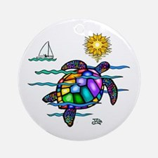 Sea Turtle (nobk) Ornament (Round)