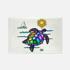 Sea Turtle (nobk) Rectangle Magnet