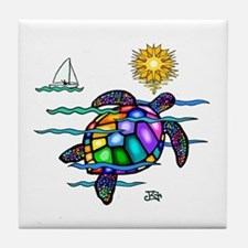 Sea Turtle (nobk) Tile Coaster
