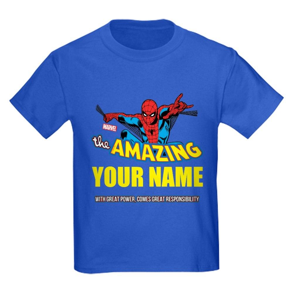 CafePress The Amazing Spider-man Personali Kids Dark