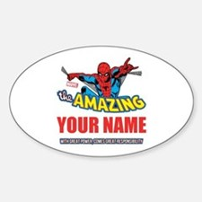 The Amazing Spider-man Personalized Sticker (Oval)