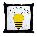 Class of 2027 bee Throw Pillow