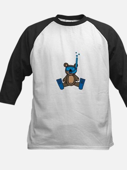 Scuba Teddy Bear Baseball Jersey