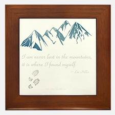 Never Lost in the Mts Framed Tile