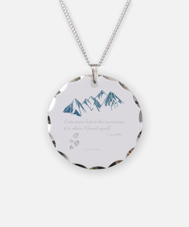 Never Lost in the Mts Necklace