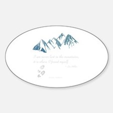 Never Lost in the Mts Sticker (Oval)