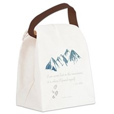 Never Lost in the Mts Canvas Lunch Bag