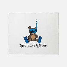 Treasure Diver Throw Blanket