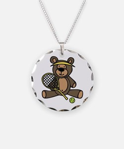 Tennis Teddy Bear Necklace