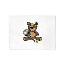 Tennis Teddy Bear 5'x7'Area Rug