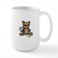 Tennis Teddy Bear Mugs