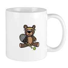 Tennis Teddy Bear Mugs