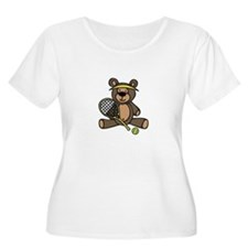 Tennis Teddy Bear Plus Size T-Shirt