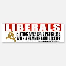 Liberals and Communism Bumper Bumper Bumper Sticker