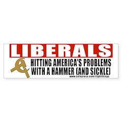Liberals and Communism Bumper Bumper Sticker