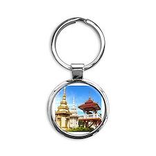 Pagoda Round Keychain